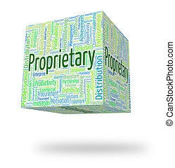 Proprietary Word Indicates Wordcloud Words And Possession -...