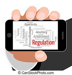 Regulation Word Indicates Rules Regulations And Text -...