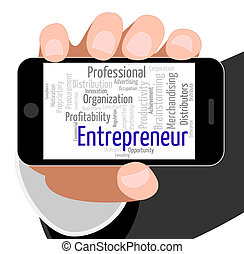 Entrepreneur Word Means Business Person And Businessman -...