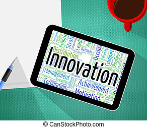 Innovation Word Shows New Idea And Innovate - Innovation...