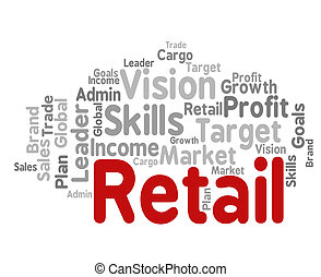 Retail Word Represents Market Marketing And Retailing -...