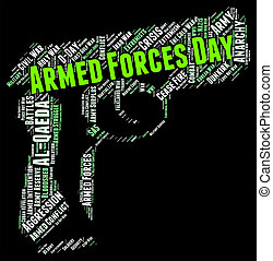 Armed Forces Day Means Military Service And American - Armed...