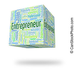 Entrepreneur Word Indicates Business Person And Businessman...