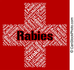 Rabies Word Indicates Poor Health And Affliction - Rabies...