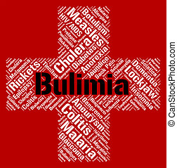 Bulimia Word Means Binge Vomit Syndrome And Affliction -...