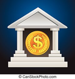bank account - This is icons vector illustration.