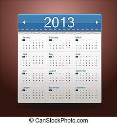 Blue Calendar 2013 - This is icons vector illustration