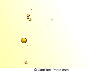 Yellow bubbles - BEautiful yellos bubbles isolated over a...