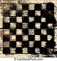 Grunge chessboard background - Grunge vector chessboard