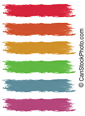 Dried Paintbrush Strokes - Dried Color Paintbrush Strokes...