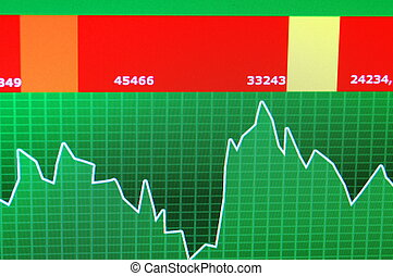 stock chart - chart diagram or graph from the stock market...