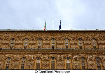Pitti palace, Florence - A view of Pitti palace, Florence,...