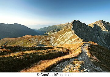 Tatra Mountains at dawn - Western Tatras on the...