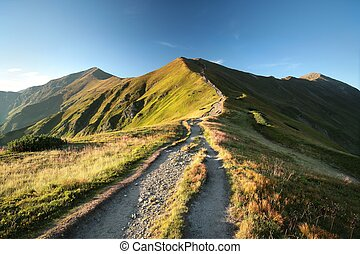 Tatra Mountains in the Carpathians - The trail leading to...