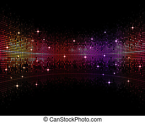 Abstract Disco Background - abstract multicolor music disco...