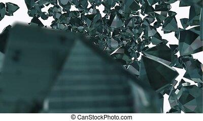Flying diamond jewel stones
