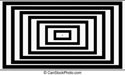 Abstract black square lines on white