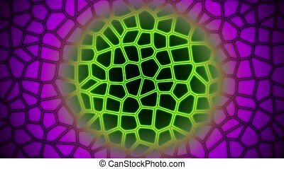 Abstract background in purple and green