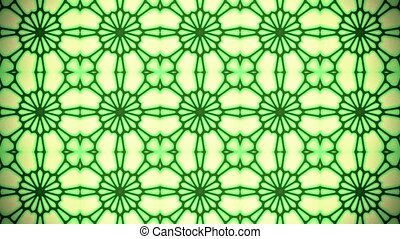 Abstract vintage mosaic in green