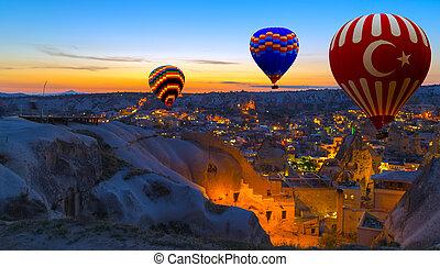 Hot Air Balloon morning Cappadocia Turkey - Hot Air Balloon...