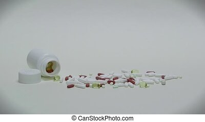 Prescription Drugs Medicines Pills - Studio shot of pills,...