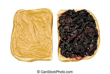 Peanut Butter Jelly Sandwich - Image of peanut butter jelly...