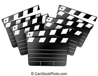 Movie Film Studio Clapper Boards Cinema Director Producer -...
