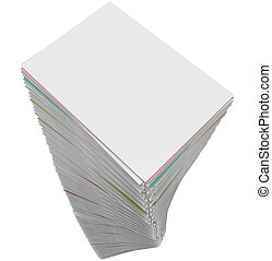 Paperwork Stack Pile Documents Applications Work Task...