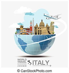 Italy Landmark Global Travel And Journey Infographic Vector...