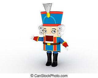 Nutcracker statuette | 3D [Single Object Series]