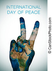 international day of peace (Earth map furnished by NASA) - a...