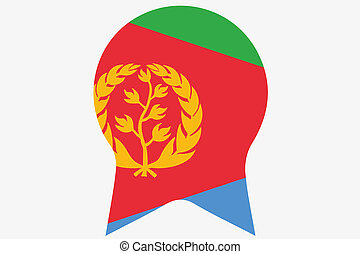 Flag Illustration inside a Rosette of the country of Eritrea...