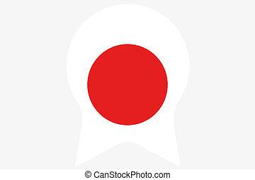 bandeira, Ilustração, dentro, Um, rosette, de,...