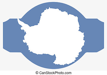 Flag Illustration within a Sign of the country of Antartica...