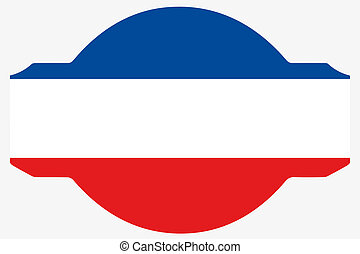 Flag Illustration within a Sign of the country of Yugoslavia...