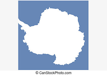 3D Isometric Flag Illustration of the country of Antartica -...