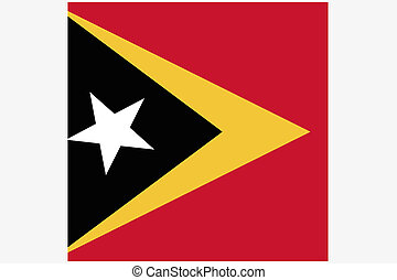 3D Isometric Flag Illustration of the country of East Timor...