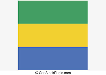 3D Isometric Flag Illustration of the country of Gabon - A...