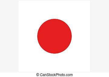 quadrado, bandeira, Ilustração, de, a,...