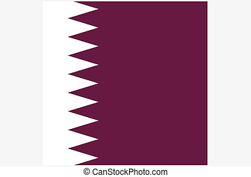 Square Flag Illustration of the country of Qatar - A Square...