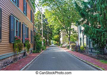 Lambertville Street - A quiet street in Lambertville NJ,a...