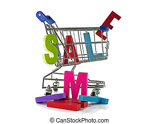 shopping card with sale text