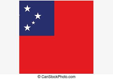 quadrato, Samoa, Paese, illustrazione, bandiera, Occidentale...