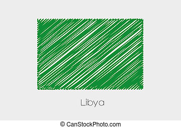 Scribbled Flag Illustration of the country of Libya-75 - A...