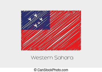 scribbled, bandiera, illustrazione, di, il, Paese, di,...