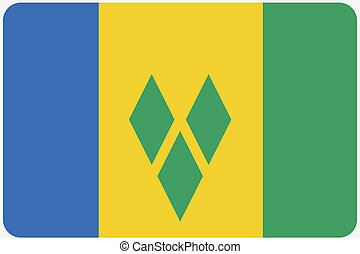 Flag Illustration with rounded corners of the country of...
