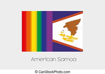 LGBT, bandiera, illustrazione, con, il, bandiera, di,...