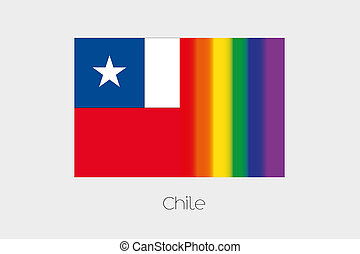 LGBT Flag Illustration with the flag of Chile - An LGBT Flag...