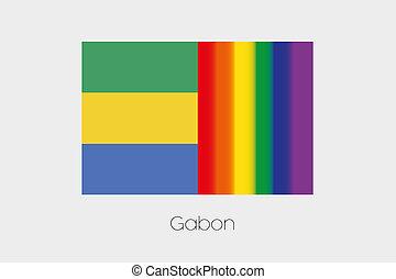 LGBT Flag Illustration with the flag of Gabon - An LGBT Flag...