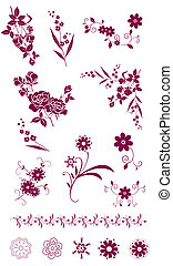 flower and plant pattern